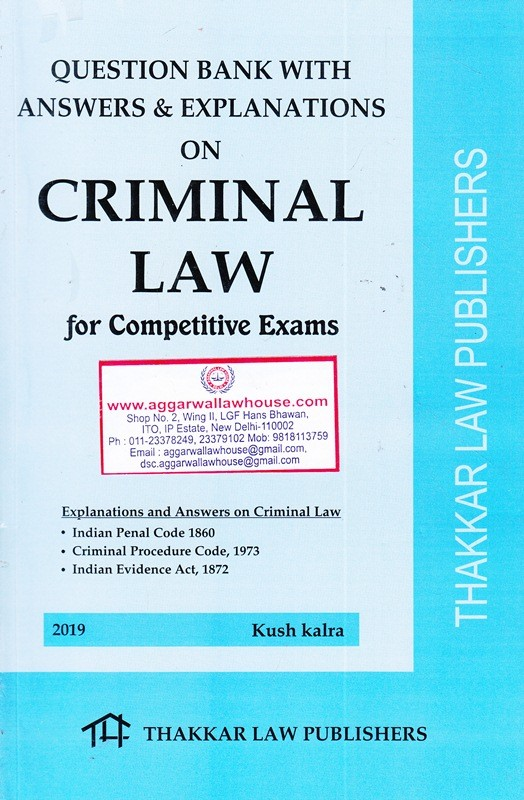 Question Bank with answers & explanations on Criminal Law for competitive exams