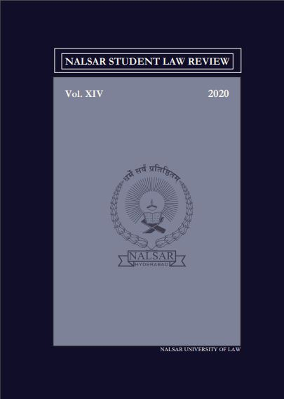 NSLR - NALSAR Student Law Review