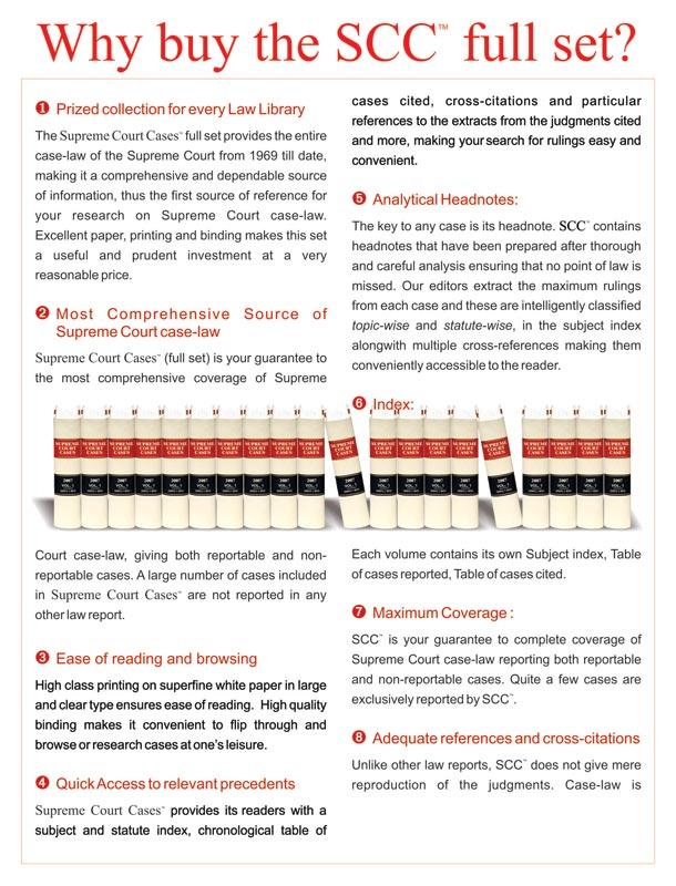 Supreme Court Cases (Back Volumes) - SCC Bound Volumes - EBC Webstore