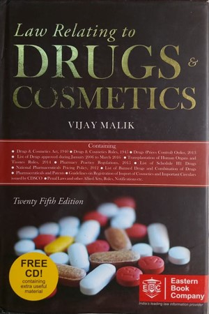 Law Relating to Drugs & Cosmetics, 25E 2016