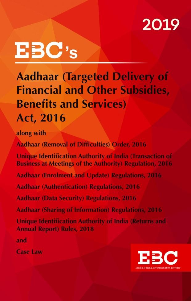 Aadhaar Targeted Delivery of Financial and other Subsidies, Benefits and Services Act, 2016