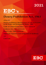 Dowry Prohibition Act, 1961[Amended up to Act 34 of 2019 and as of 5-12-2020]Bare Act (Print/eBook)