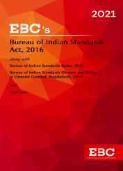 Bureau of Indian Standards Act, 2016[Amended up to Noti. No. 1557(E), dt. 10-4-2019 and as of 21-12-2020]Bare Act (Print/eBook)