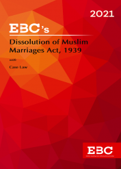 Dissolution of Muslim Marriages Act, 1939[Amended up to Act 34 of 2019 and as of 24-12-2020]Bare Act (Print/eBook)