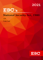National Security Act, 1980[Amended up to Act 34 of 2019 and as of 30-12-2020]Bare Act (Print/eBook)