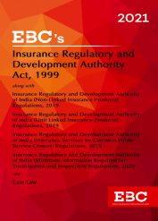 Insurance Regulatory and Development Authority Act 1999[Amended up to Act 50 of 2019 and as of 25-12-2020]Bare Act (Print/eBook)