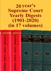 20 Years' Supreme Court Yearly Digest 2001-2020 (in 18 Volumes)