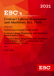 Contract Labour (Regulation and Abolition) Act, 1970[Amended up to Act 4 of 2005 and as of 7-1-2021]Bare Act (Print/eBook)