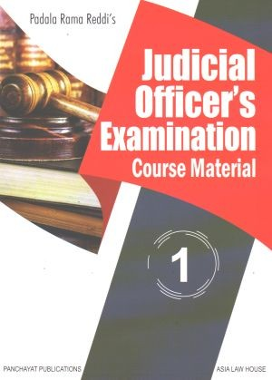 Padala Rama Reddi Judicial Officers Examination Course Material In 4 Vols ( Civil And Criminal ) Including Multiple Choice Question Bank Screening Test