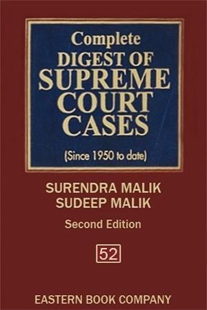 Complete Digest of Supreme Court Cases, Vol 52