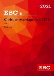 Christian Marriage Act, 1872[Amended up to Act 34 of 2019 and as of 20-11-2020]Bare Act  Law of Marriage and Divorce(Print/eBook)