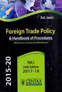 Foreign Trade Policy and Handbook of Procedures With Forms Circulars and Public Notices 2015-20 Vol 1