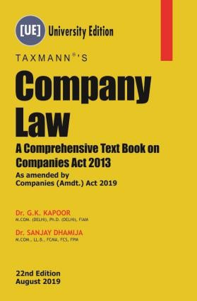 Company Law A Comprehensive Text Book on Companies Act 2013