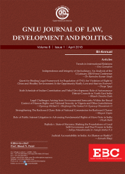 GNLU Journal of Law, Development And Politics