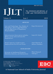 Indian Journal of Law and Technology IJLT