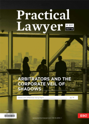 Practical Lawyer: Arbitrators And The Corporate Veil of Shadows
