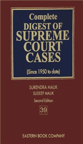 Complete Digest of Supreme Court Cases (Volume 39) [Since 1950 to date] Second Edition in about 60 Large Volumes