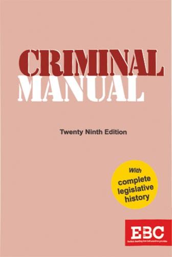 Criminal Manual (Standard Large Print Edition)