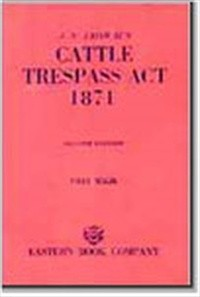 J.N. Jaiswal's  The Cattle Trespass Act, 1871