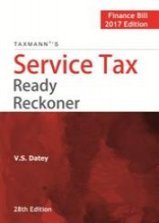 Service Tax Ready Reckoner - Finance Bill 2017 Edition