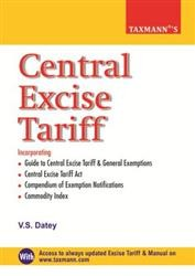Central Excise Tariff