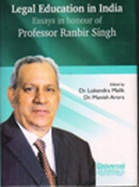 Legal Education in India Essays in honour of Professor Ranbir Singh