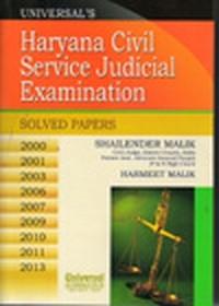 Universal's Haryana Civil Service Judicial Examination (Solved Paper) 2000, 2001, 2003, 2006, 2007, 2009, 2010, 2011, 2013, 2nd Edn.