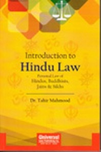 Introduction to Hindu Law - Personal Law of Hindus, Buddhists, Jains & Sikhs