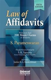 Law of Affidavits- with more than 200 Model Forms of Affidavits