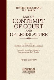 Law of Contempt of Court and of Legislature