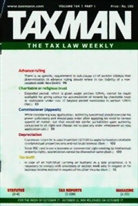 Taxman (Printed Journal) with free Tax Research Tool on DVD (Weekly)