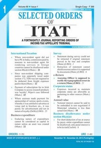 Selected Orders of ITAT (Fortnightly Journal)