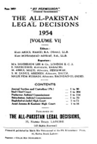 The All Pakistan Legal Decision (PLD)