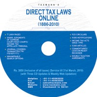 Taxmann Online (DVD) (All Three Modules - Direct Tax Laws / Corporate Laws / Service Tax)