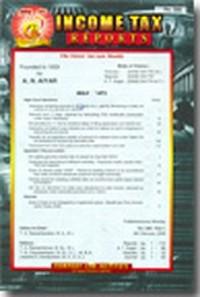 Income Tax Reports (ITR) Hardbound Vol Service