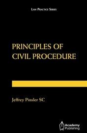 Principles of Civil Procedure (softcover edition)