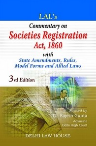 Lal's : Societies Registration Act, 3rd Updated Edn. with latest case-laws