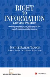 Right to Information - Law and Practice