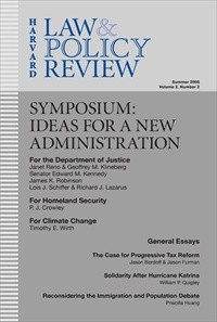 Harvard Law & Policy Review [Print]