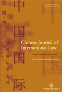 The Chinese Journal of International Law [Print]