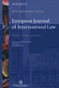 European Journal of International Law  [Print]