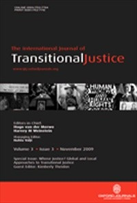 International Journal of Transitional Justice [Print]