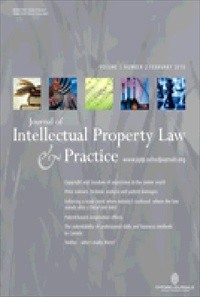 Journal of Intellectual Property Law & Practice [Print]