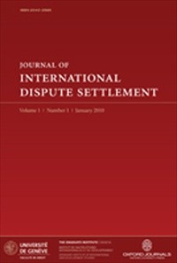 Journal of International Dispute Settlement [Print]