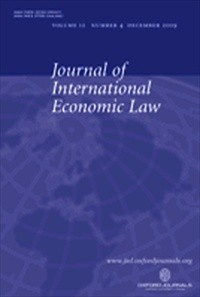 Journal of International Economic Law [Print]