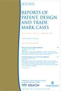 Reports of Patent, Design and Trade Mark Cases [Print]