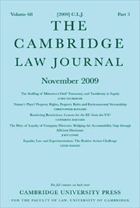 The Cambridge Law Journal  [Print]