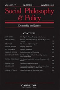 Social Philosophy and Policy  [Print]