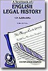 Legal History - A Textbook of  English Legal History