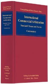 International Commercial Arbitration: Standard Clauses and Forms - Commentary